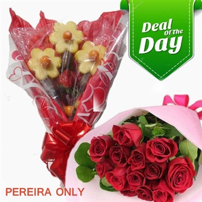 PEREIRA ONLY / SPECIAL SOLITAIRE BOUQUET WITH ROSES