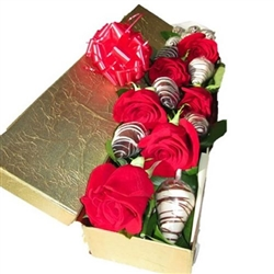 SPECIAL BOX X 6 STRAWBERRIES WITH CHOCOLATE