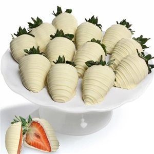 12 WHITE CHOCOLATE STRAWBERRIES