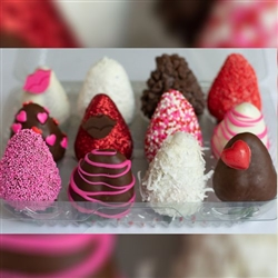 12 ROMANTIC CHOCOLATE STRAWBERRIES
