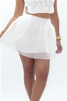 Off white skater skirt