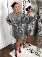 Oversized Sequin dress