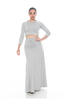 Gray Maxi Two Piece Dress