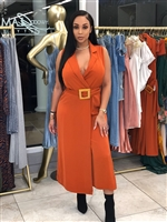 Rust Color Jumpsuit