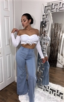 High Waist Wide Leg Denim