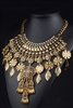 Gold Leaf Rhinestone Statement Necklace