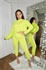 Neon Lime Knitted Set