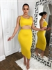 Mustard Yellow Two Piece Set