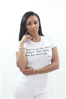 God is in the midst of her; she shall not be moved.  Psalm 46:5 T-shirt 100% cotton