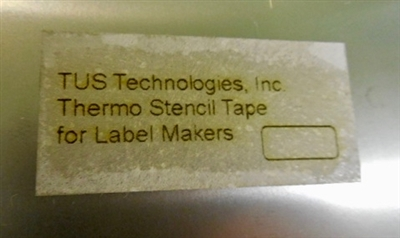 Thermo Self Stencil Material in cassette