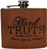 5 oz Hard Truth Leather Wrapped Flask