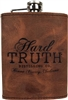 8 oz Hard Truth Leather Wrapped Flask
