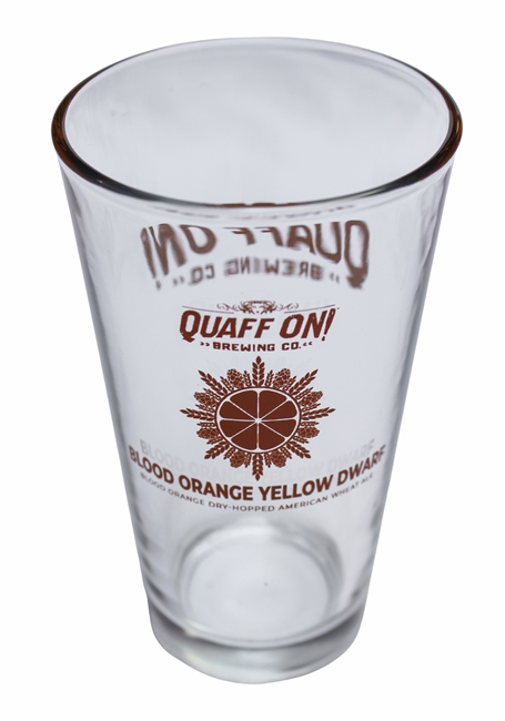 Blood Orange Yellow Dwarf pint glass