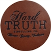 Hard Truth Leather Coaster