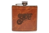 Sipes' Aged Leather Flask