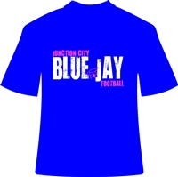 Bright Blue Jay Football T-Shirts