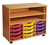 Triple Bay Art Tray Storage, 4 High