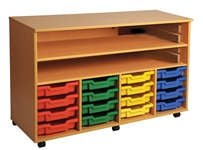 Quad Bay Art Tray Storage, 4 High