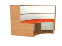 900mm Curved Bookcase Seat