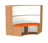 1200mm Curved Bookcase Seat