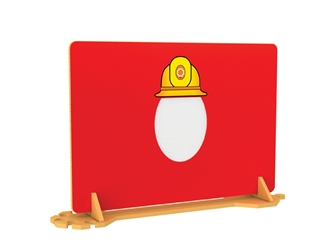 Fireman Room Divider with Mirror