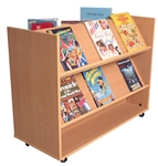 Combination Flat & Display Shelf Book Trolley