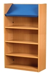 1500 Single Sided Display Top Bookcase - Add-On Unit 686