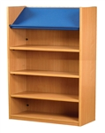 1500 Single Sided Display Top Bookcase - Add-On Unit 1029