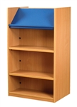 1200 Double Sided Display Top Bookcase - Add-On Unit 686