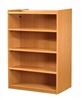 1500 Double Sided Flat Shelf Bookcase - Add-On Unit 1029