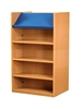 1500 Double Sided Display Top Bookcase - Add-On Unit 686