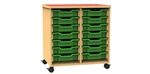 Double bay 14 tray storage unit