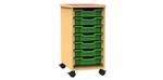 Single bay 5 tray storage unit