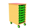 Single bay 7 tray storage unit
