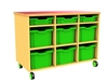 Triple bay 9 tray storage unit (3 int, 3 dp & 3 sh)