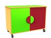 Double bay mobile cupboard - 650mm high