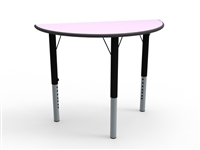 Semi Circular MDF Height Adjustable Table