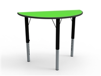 Semi Circular MFC Height Adjustable Table