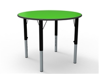 Circular MDF Height Adjustable Table