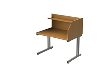 S/S Cantilever Study Carrel - Add-on (inc frame)