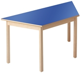 Wooden Trapezoidal Table
