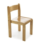 Childrens Wooden Chair - Natural Beech Pack of 2