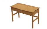 Teachers Wooden Locker Desk - Beech