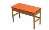Teachers Wooden Locker Desk - Coloured Top