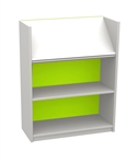 White & Bright 900 Single Sided Display Top Bookcase - Starter Unit 704