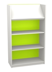 White & Bright 1200 Single Sided Display Top Bookcase - Starter Unit 704