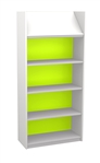 White & Bright 1500 Single Sided Display Top Bookcase - Starter Unit 704
