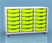 White & Bright Triple Column 18 Tray Unit