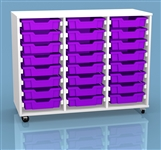 White & Bright Triple Column 24 Tray Unit