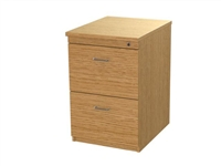 Zodiac 2 drawer desk high pedestal